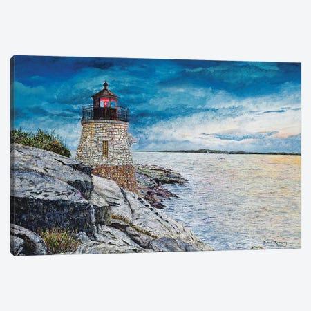 Castle Bay Light Canvas Print #RDD23} by James Redding Canvas Wall Art