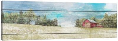 Countryside Town Farm Canvas Art Print