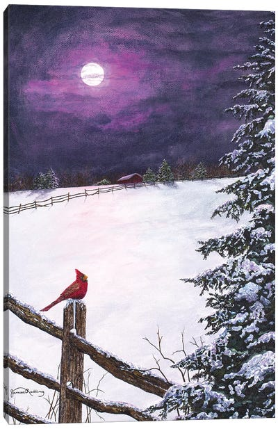 Deep Mauve Midnight Canvas Art Print