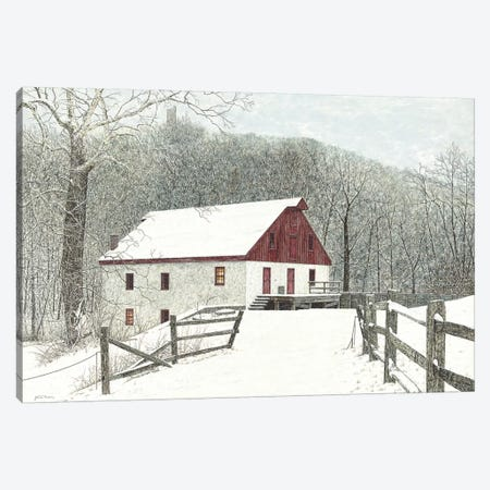 Grist Mill Canvas Print #RDD29} by James Redding Canvas Artwork