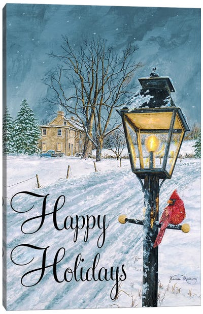 Happy Holidays Canvas Art Print