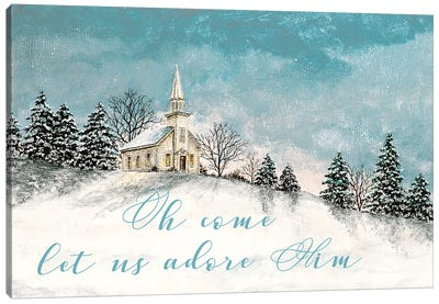 Let Us Adore Him Canvas Art Print