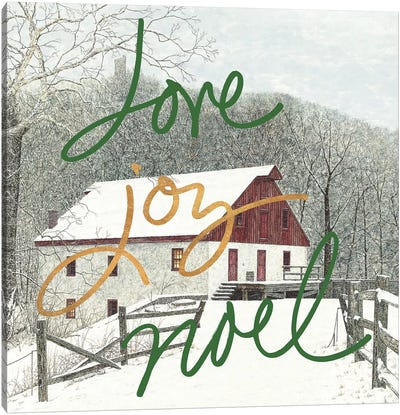 Love Joy Noel Canvas Art Print