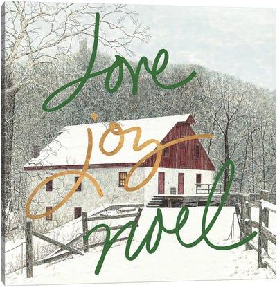 Love Joy Noel Canvas Art Print