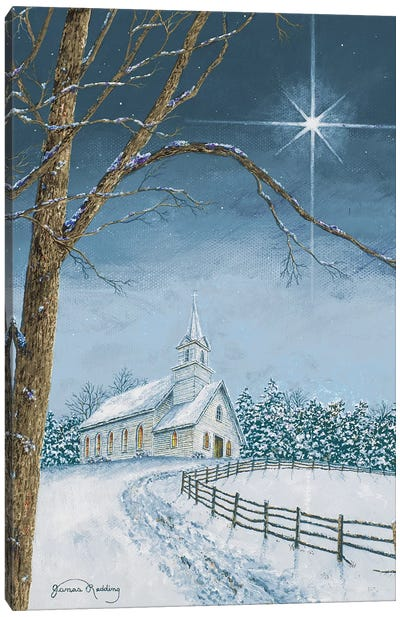 Shining Holiday Star Canvas Art Print
