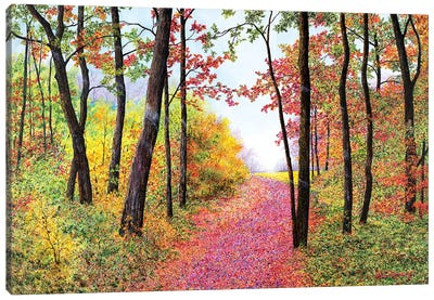 Autumn's Poetry Canvas Art Print