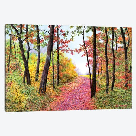 Autumn's Poetry Canvas Print #RDD3} by James Redding Canvas Art Print