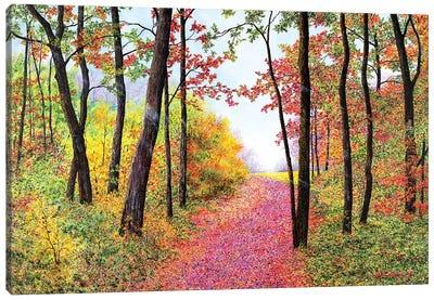 Autumn's Poetry Canvas Art Print