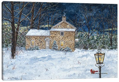 Stone House Canvas Art Print