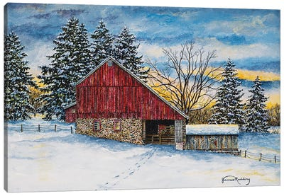 Stovers Mill Barn Canvas Art Print