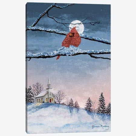 Winter Church Nights Canvas Print #RDD46} by James Redding Canvas Print