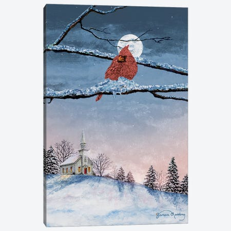 Winter Church Nights Canvas Print #RDD46} by James Redding Canvas Print