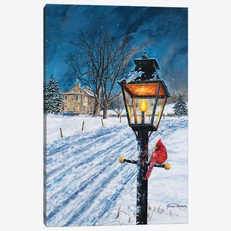 Winterberry Lamppost Canvas Print #RDD48} by James Redding Canvas Artwork
