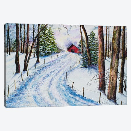 Winter's Glow Canvas Print #RDD49} by James Redding Canvas Wall Art