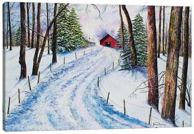 Winter's Glow Canvas Art Print