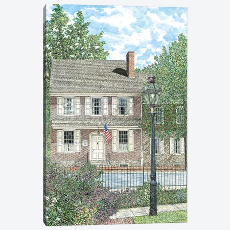 Court Inn Canvas Print #RDD6} by James Redding Canvas Art