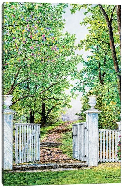 Narrow Is The Path Canvas Art Print