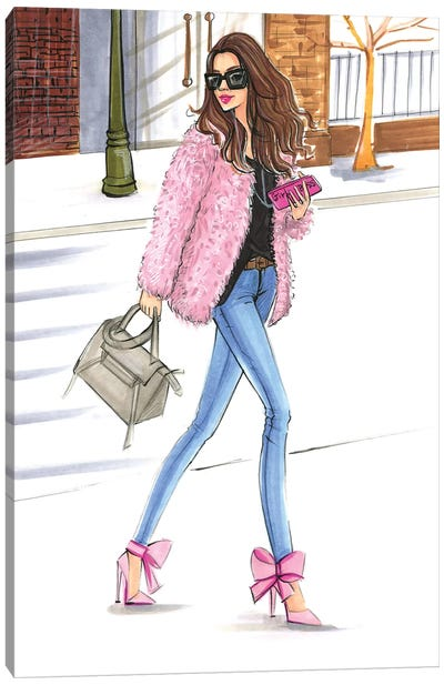 Pink Fashionistas Canvas Art Print