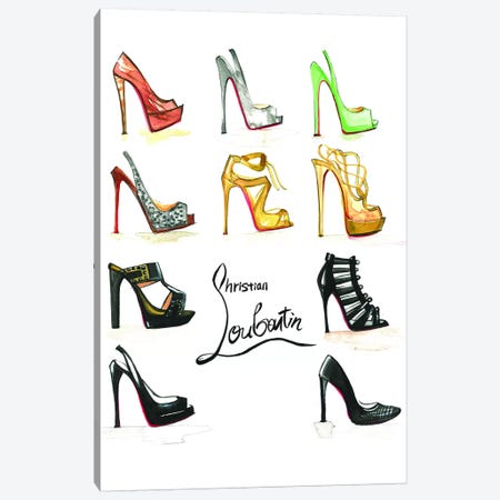 Christian Louboutin Collection Canvas Print #RDE106} by Rongrong DeVoe Canvas Art Print