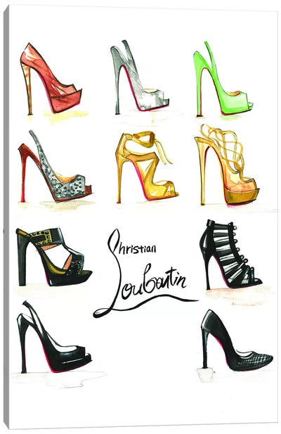 Christian Louboutin Collection Canvas Art Print