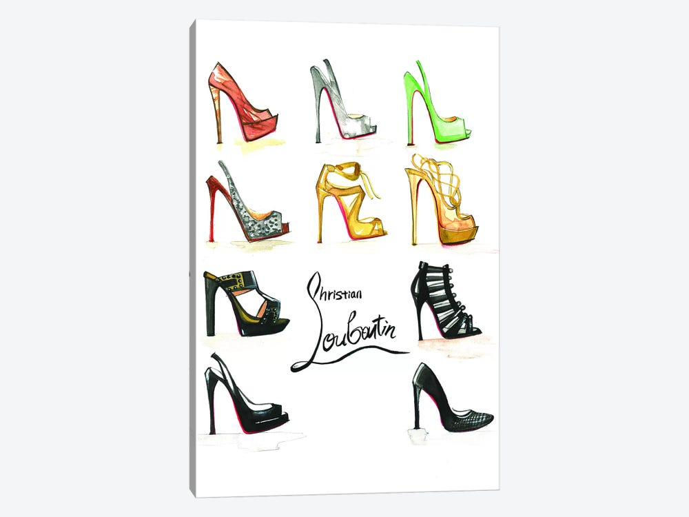 Christian Louboutin Collection by Rongrong DeVoe 1-piece Canvas Art Print