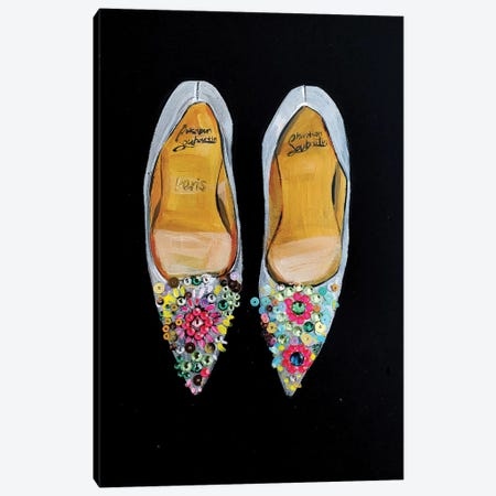 Bejeweled Christian Louboutin Canvas Print #RDE107} by Rongrong DeVoe Canvas Print
