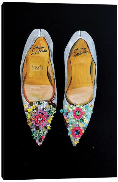 Bejeweled Christian Louboutin Canvas Art Print