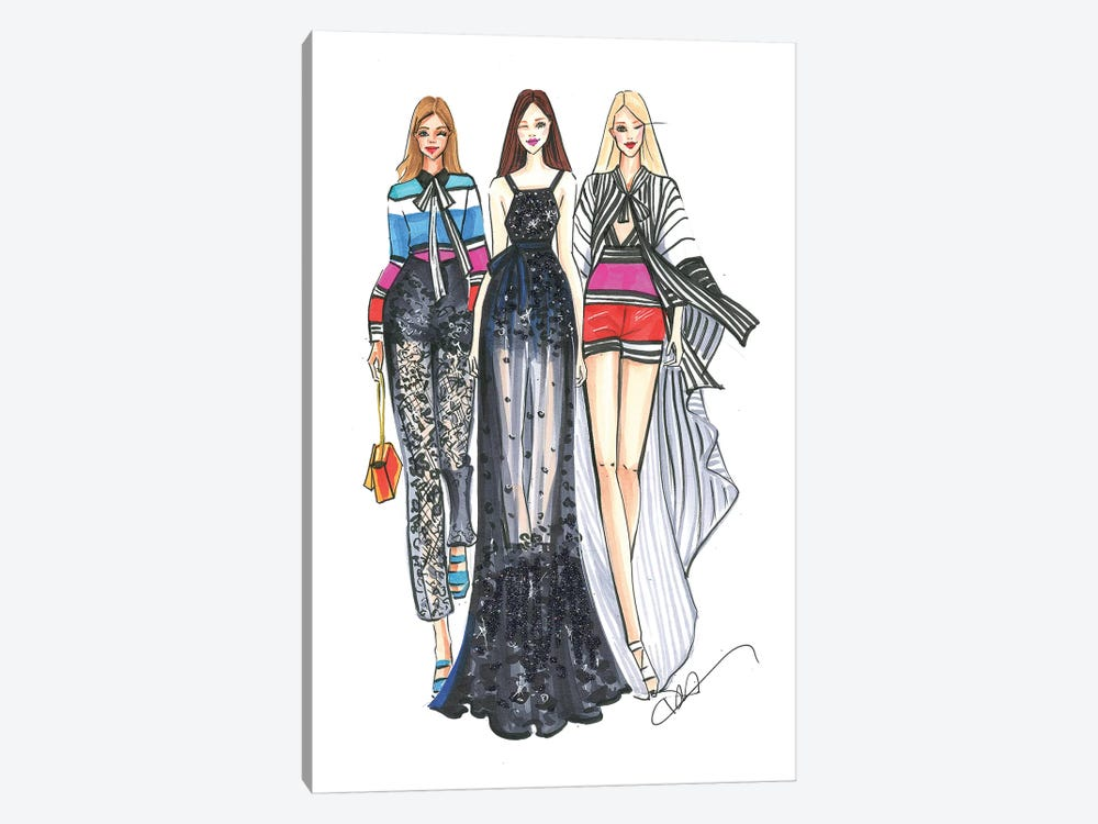 Elie Saab Ladies by Rongrong DeVoe 1-piece Canvas Wall Art