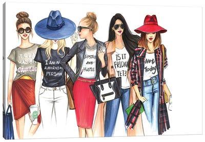 Fashionistas Gotta Have Fun Canvas Print #RDE110