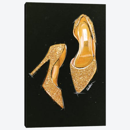 Jimmy Choo Glitter Canvas Print #RDE112} by Rongrong DeVoe Canvas Print
