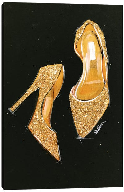 Jimmy Choo Glitter by Rongrong DeVoe Canvas Art Print