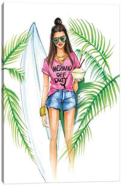 Mermaid Off Duty Canvas Art Print