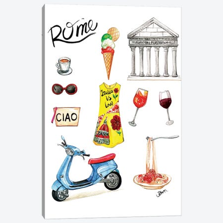 Rome Canvas Print #RDE116} by Rongrong DeVoe Canvas Art