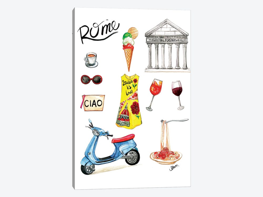 Rome by Rongrong DeVoe 1-piece Canvas Artwork