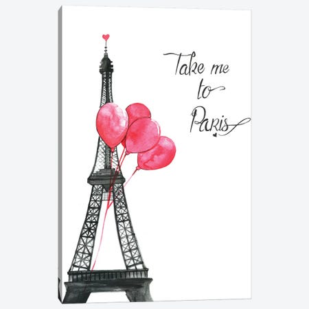 Take Me To Paris Canvas Print #RDE11} by Rongrong DeVoe Canvas Wall Art