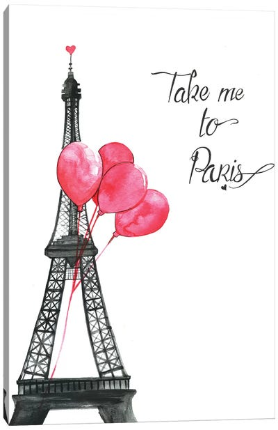 Take Me To Paris by Rongrong DeVoe Canvas Art Print
