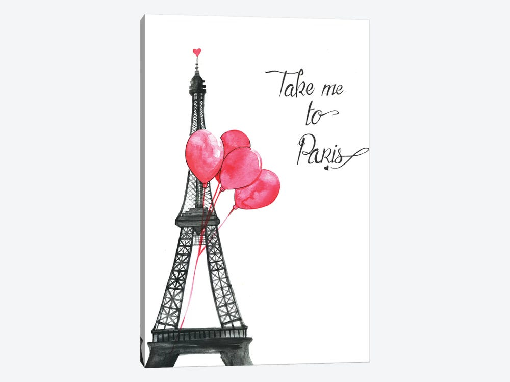Take Me To Paris by Rongrong DeVoe 1-piece Art Print