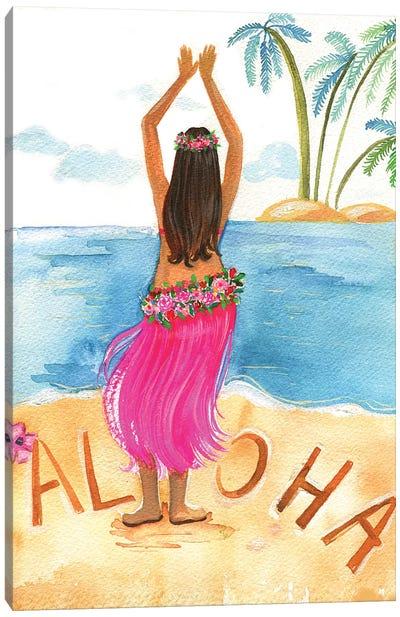 Aloha Girl Canvas Print #RDE120
