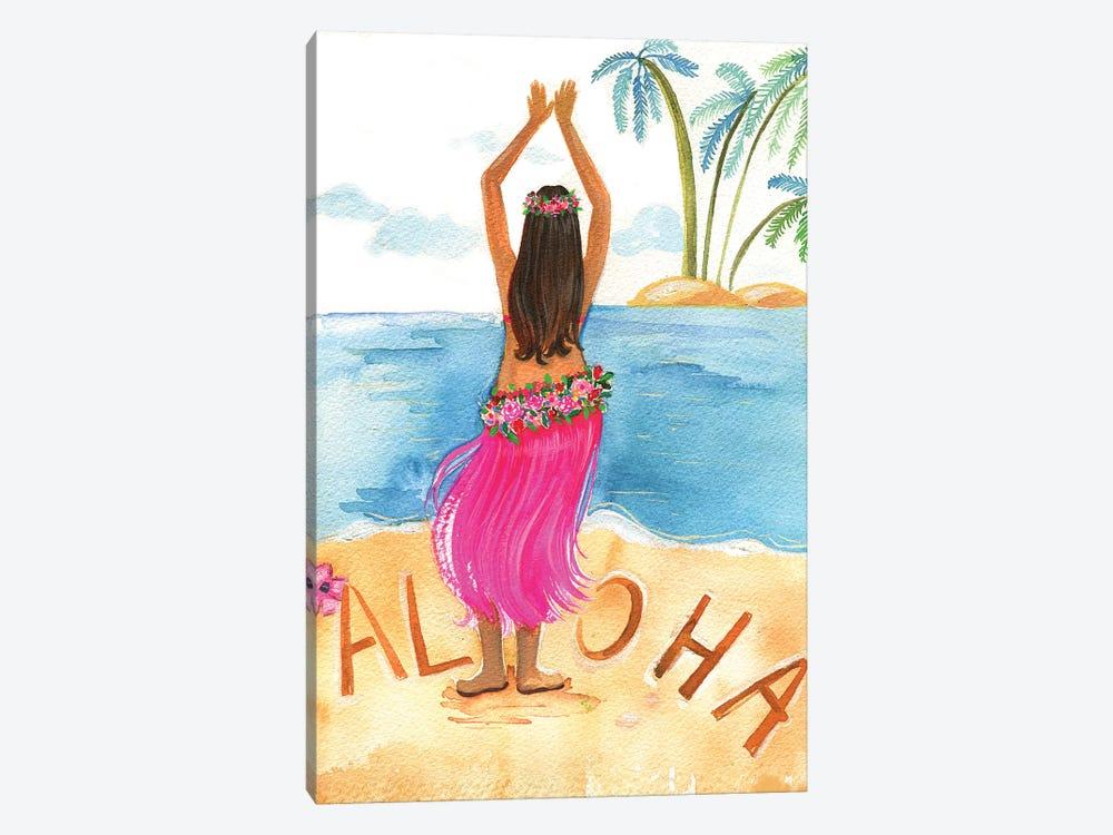 Aloha Girl by Rongrong DeVoe 1-piece Canvas Art Print