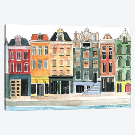 Amsterdam Canvas Print #RDE121} by Rongrong DeVoe Canvas Wall Art