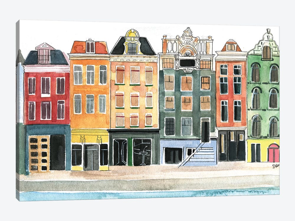 Amsterdam by Rongrong DeVoe 1-piece Canvas Art