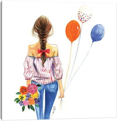 Balloon Girl Canvas Art Print