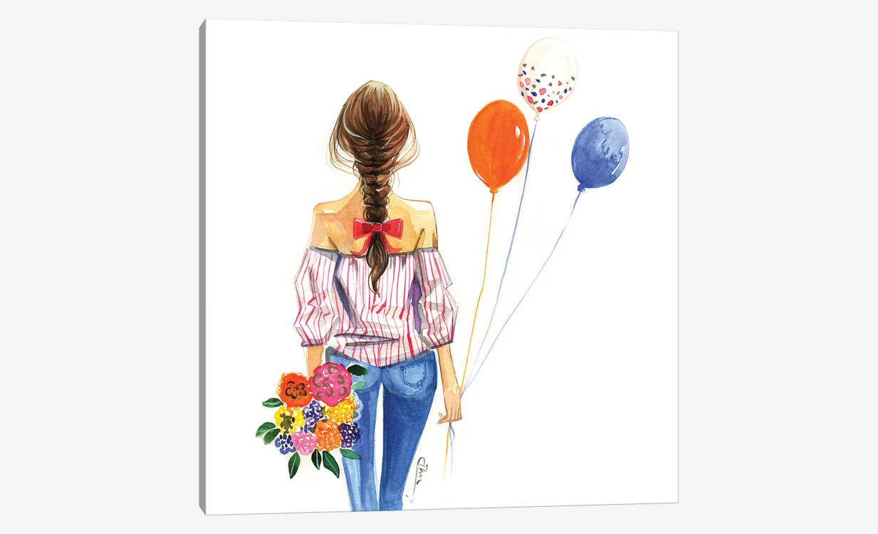 Balloon Girl 1-piece Canvas Art Print