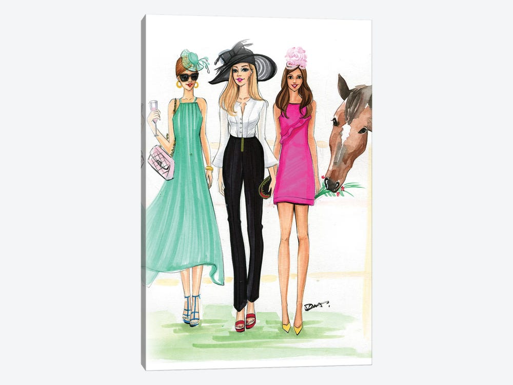 Derby Time by Rongrong DeVoe 1-piece Canvas Print