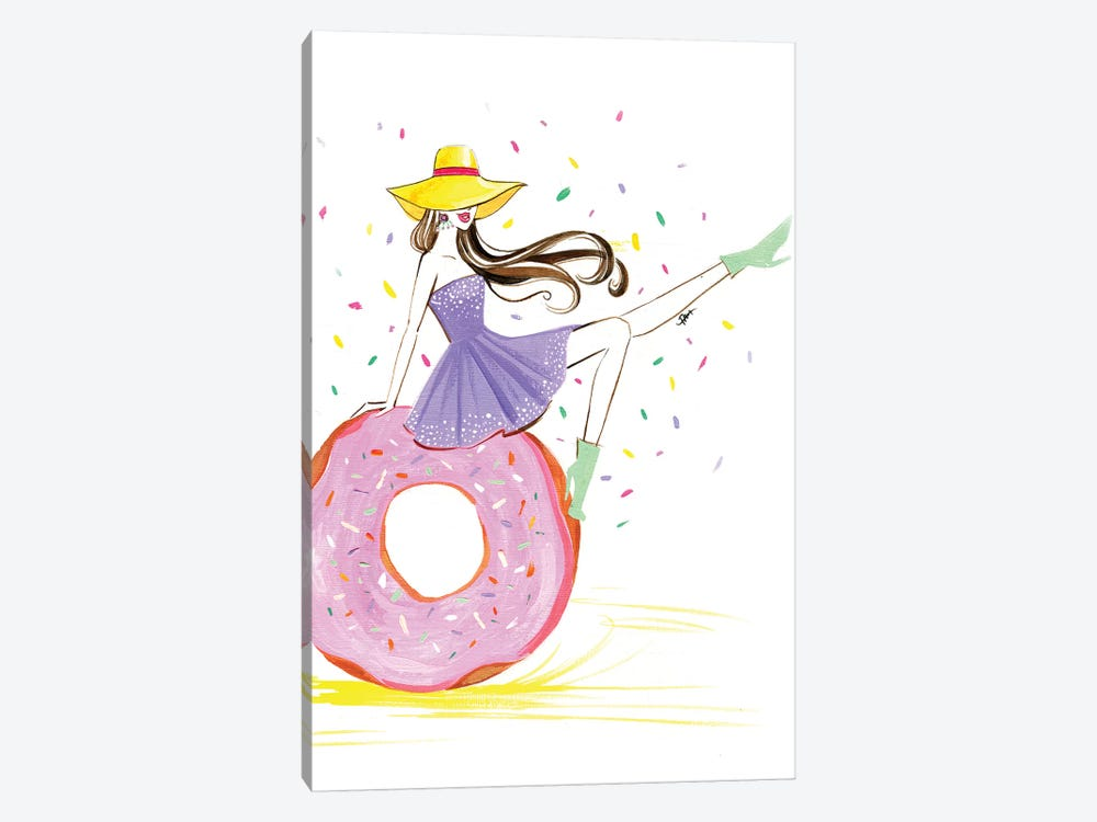 Donut Girl by Rongrong DeVoe 1-piece Canvas Art