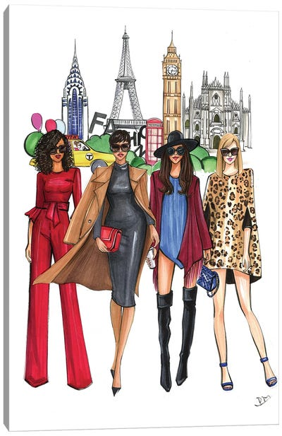 Fashion Week Ladies by Rongrong DeVoe Canvas Art Print