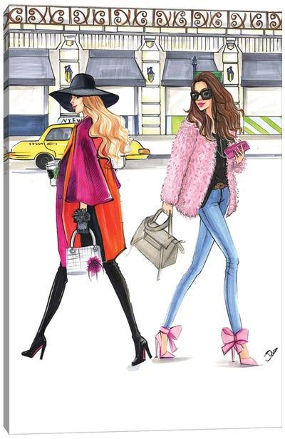 February Pink Fashionistas Canvas Print #RDE131
