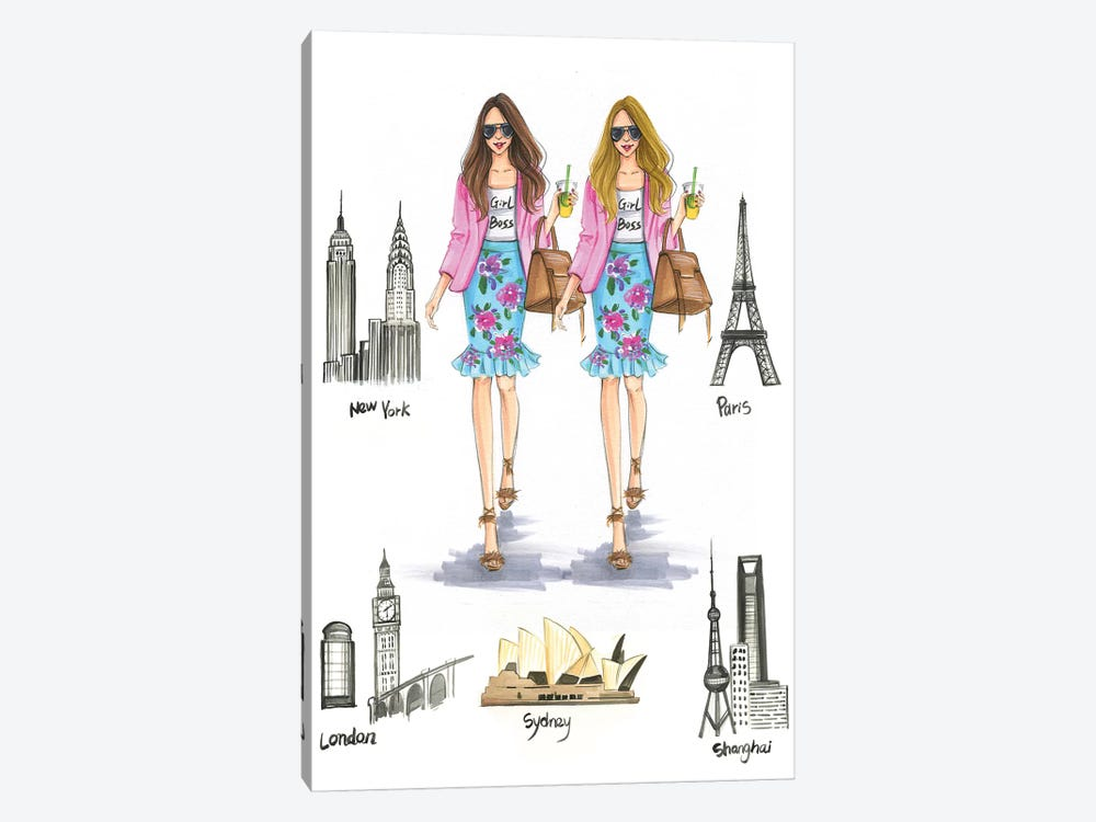 Girl Bosses Around The World by Rongrong DeVoe 1-piece Canvas Artwork