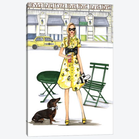 Kate Spade Kinda Day Canvas Print #RDE137} by Rongrong DeVoe Canvas Wall Art