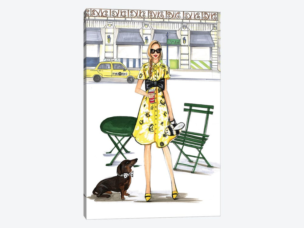 Kate Spade Kinda Day by Rongrong DeVoe 1-piece Canvas Print